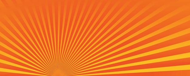 黄色の太陽が輝くカラフルな抽象的な背景