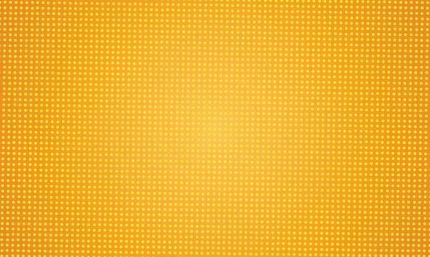 黄色の抽象的な点線の背景デザイン