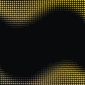 Современный абстрактный желтый пунктир с черным фоном