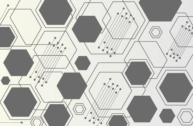 抽象的なテクノロジーの六角形の背景