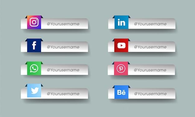 Набор иконок социальных медиа