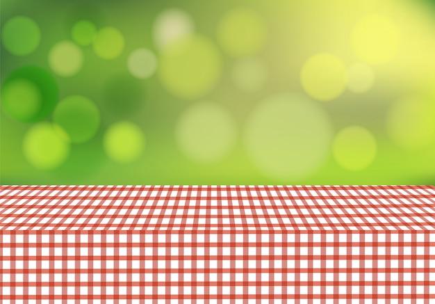 背景をぼかした写真のベクトルテーブルクロス
