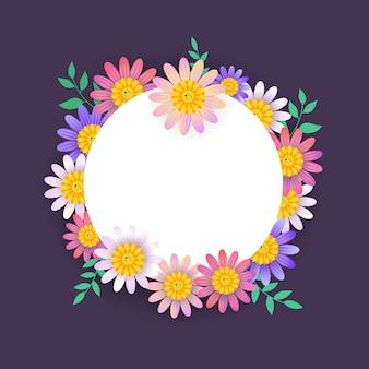 Красивый весенний баннер с красочным цветком