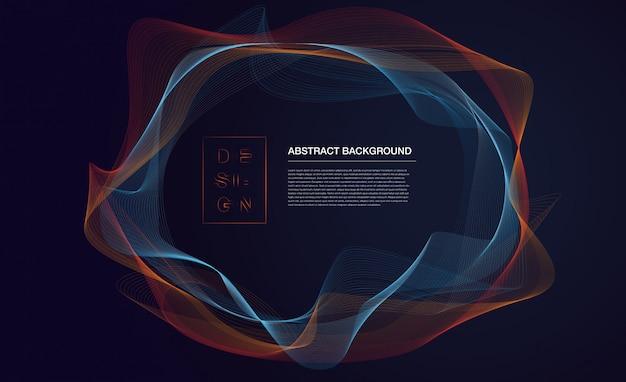 Фон абстрактный частиц с текстовым шаблоном