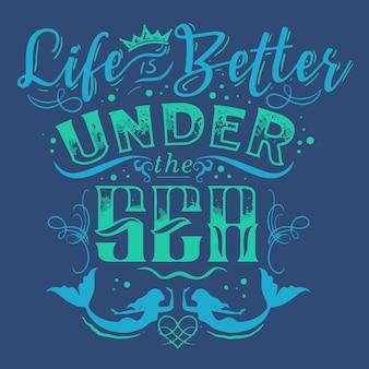 海の下の生活