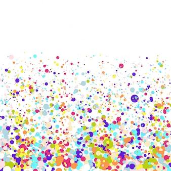 カラフルなフライングペーパー紙吹雪とベクトルの誕生日パーティーの背景