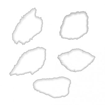 白い破れた紙の穴