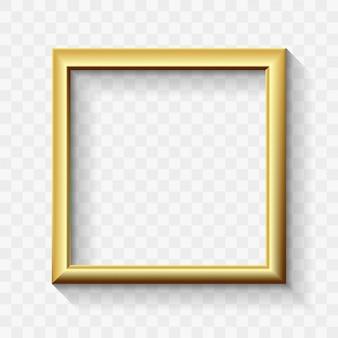Золотая современная рамка