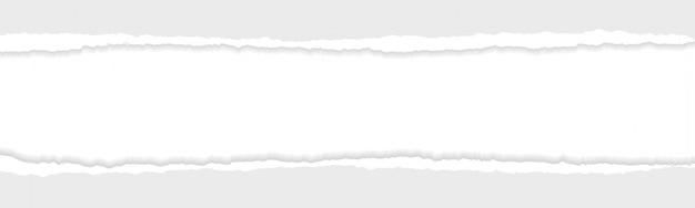 Серый рваный или рваный делитель бумаги