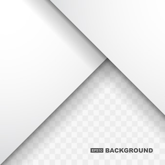 Простой абстрактный белый фон шаблона с плоской тенью дизайна
