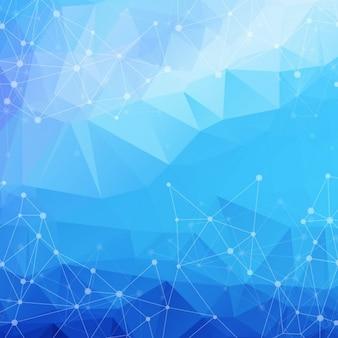 Синий фон геометрических фигур