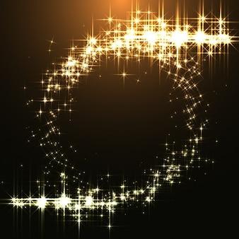 Золотой фон светит