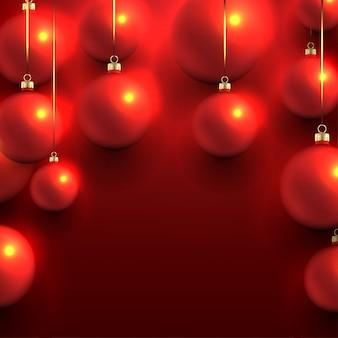 ぼんやりしたクリスマスボール