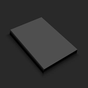 空白の黒い紙のテンプレート