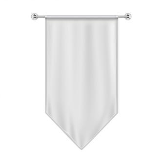 Белый висячий флаг макет