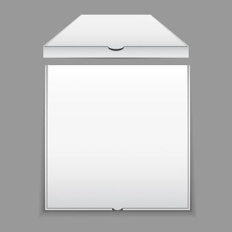 空白のピザボックスモックアップ