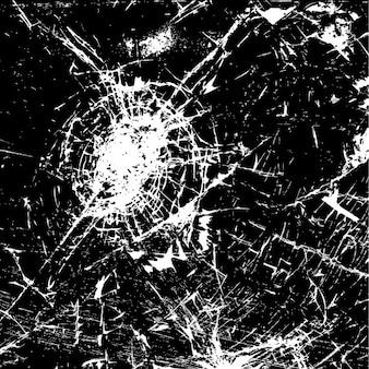 割れたガラスの抽象的な背景
