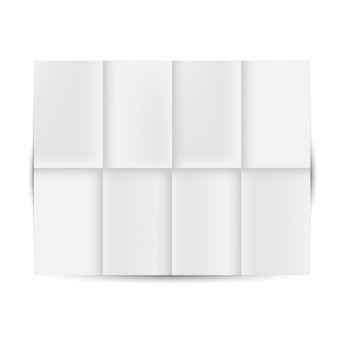 Развернутая белая бумага