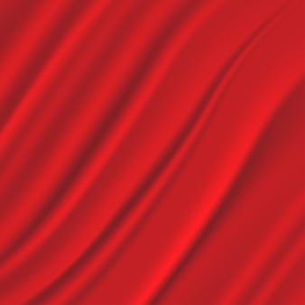 赤い絹生地の背景