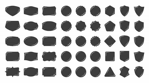 ヴィンテージの形のバッジとラベルのコレクション