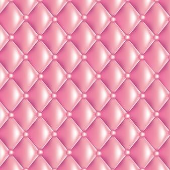 ピンクのキルティングの質感
