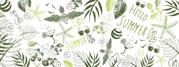 夏のいたずら書き