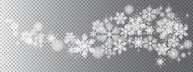 透明な雪の波