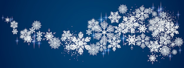 Зимний снежный фон