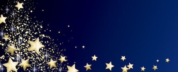 Синий и золотой фон