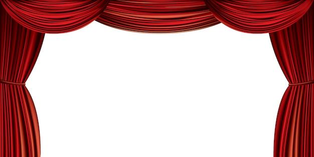 大きな赤いカーテン