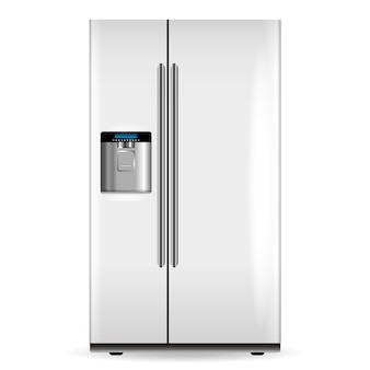 Вектор белый холодильник