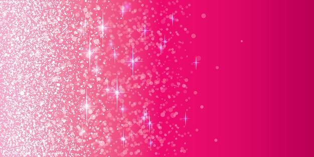 ピンクのキラキラ背景