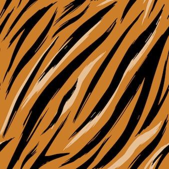 Бесшовные текстуры тигровых шкур. шаблон.