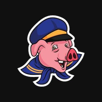 Персонаж свиньи моряка