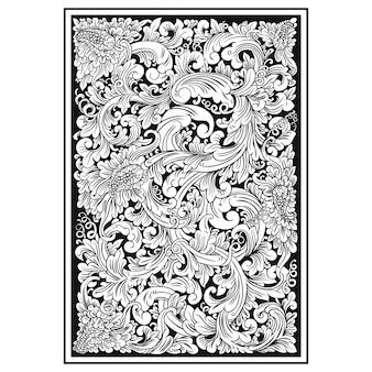 彫刻透かし彫りパターン