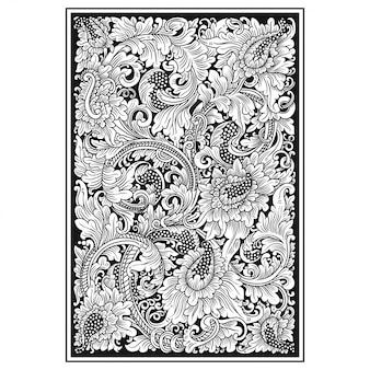 彫刻透かし模様のカード