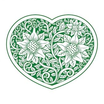 透かし彫りの花