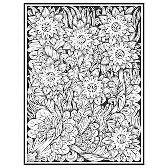 Цветочный рисунок руки рисунок