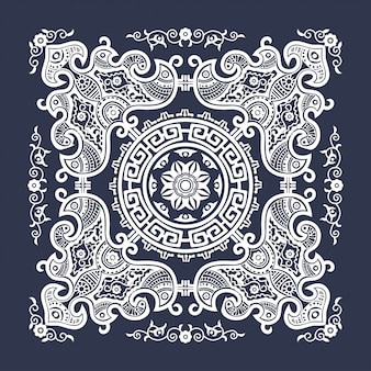 インドの伝統的な幾何学的図形タペストリー装飾