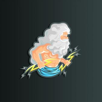 Зевс иллюстрация персонажа