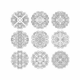 スパイログラフ要素セット