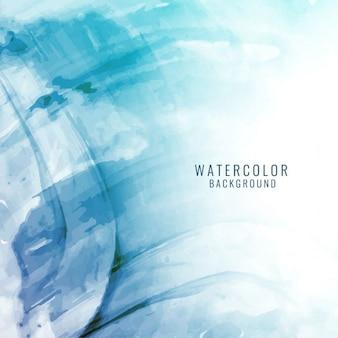 美しいエレガントな青色の水彩画の背景