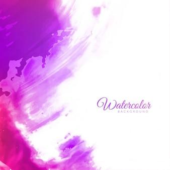 抽象的な紫色の水彩画の背景デザイン
