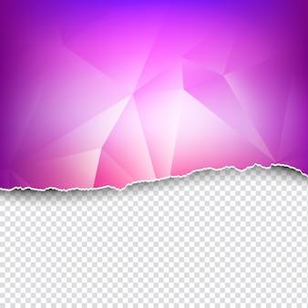Рваная бумага тема полигональный фон