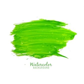 抽象的な緑の水彩の染みのデザインの背景