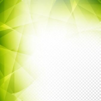 光沢のある緑色の透明な多角形の背景