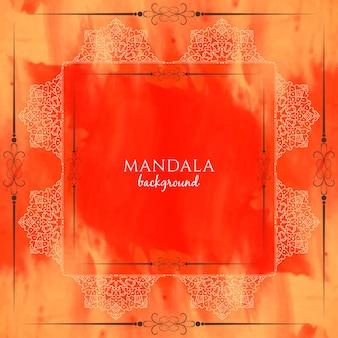 抽象的な水彩画の美しい曼荼羅の背景