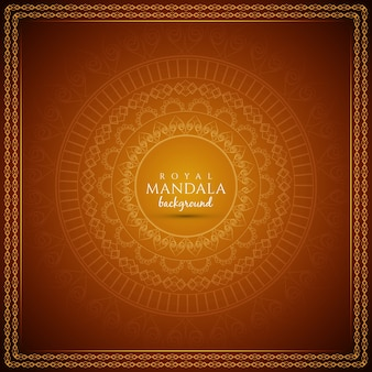 抽象的な装飾王立曼荼羅の背景