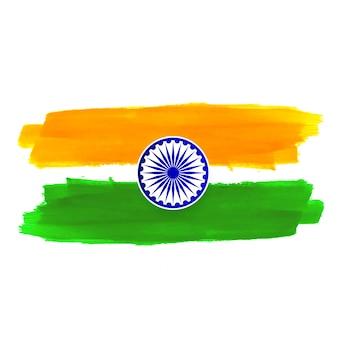 抽象的なインドの旗のテーマデザインの背景