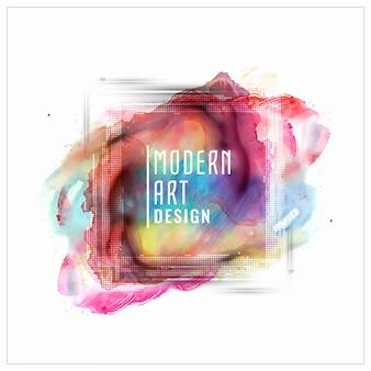 抽象的な色彩豊かな水彩バナーデザイン
